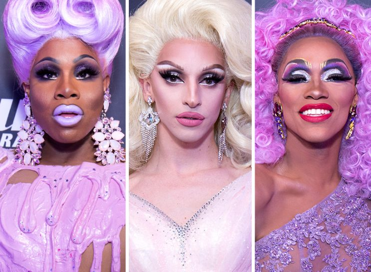 A photo collage of Monét X Change, Miz Cracker and The Vixen