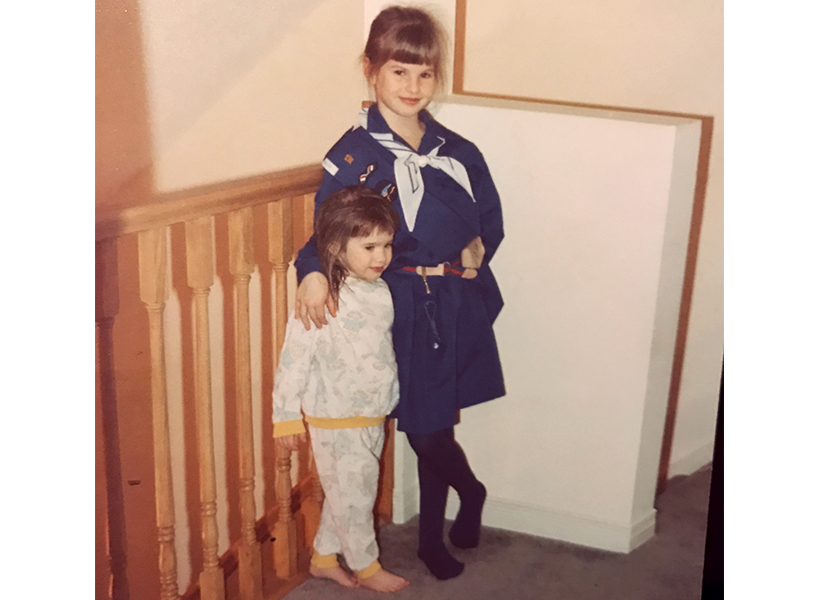 A photo of the author in her Girl Guides uniform