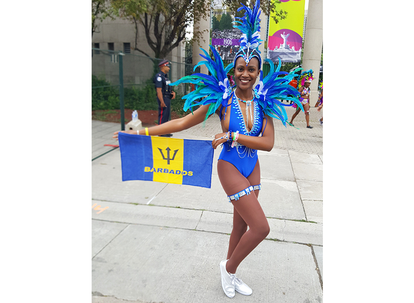 Celine Gibbons-Taylor participating at Caribana