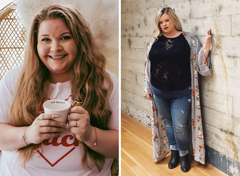 Sarah Hostetler Rosen (left) and Lou Xavier started #FatIsNotAViolation to combat Instagram's unfair censorship of fat bodies