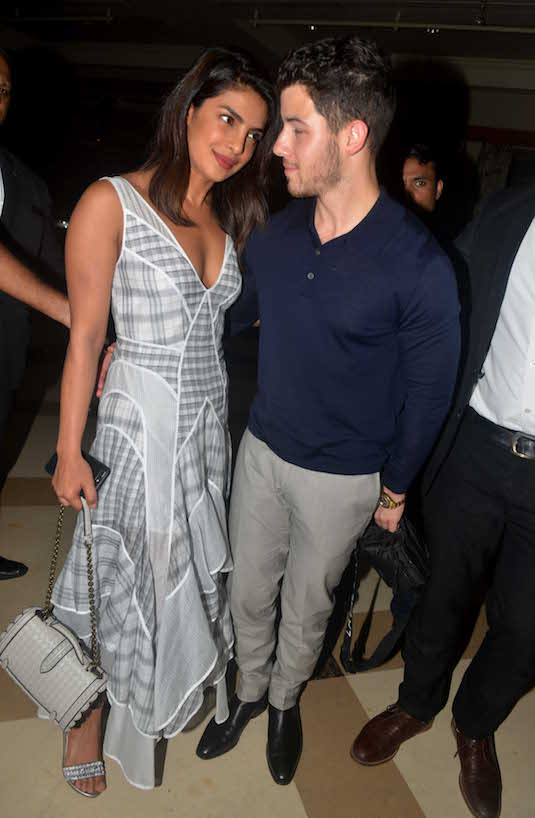 A photo of Nick Jonas and Priyanka Chopra on a date in Mumbai