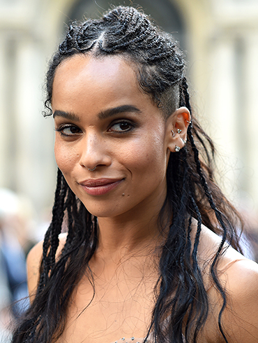 celeb engagements 2018: zoe kravitz close up