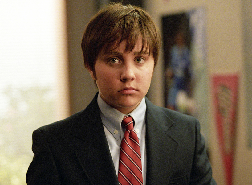 A photo of Amanda Bynes pretending to be a boy in 'She's the Man'