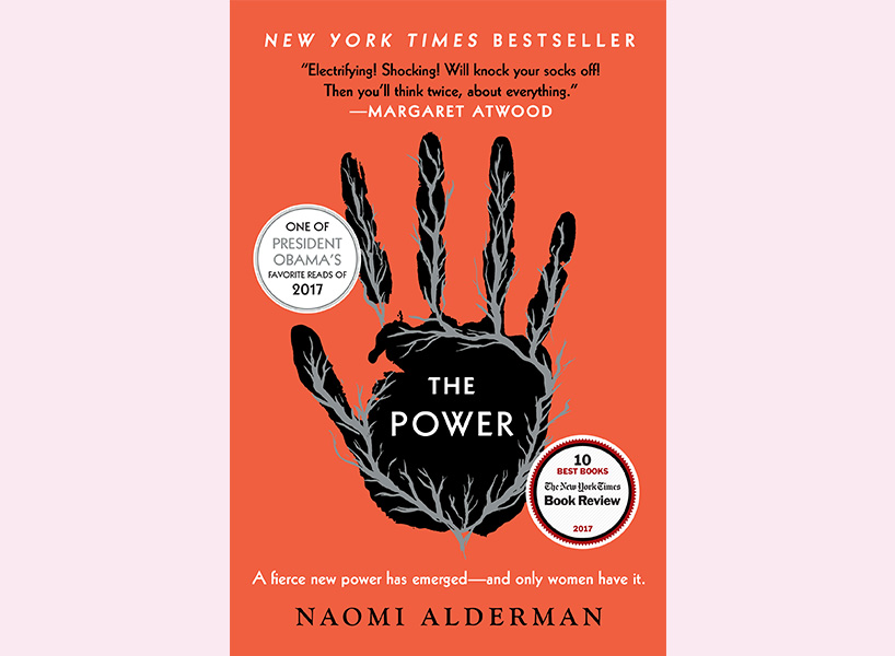 feminist gifts: Naomi Alderman's The Power cover with black handprint