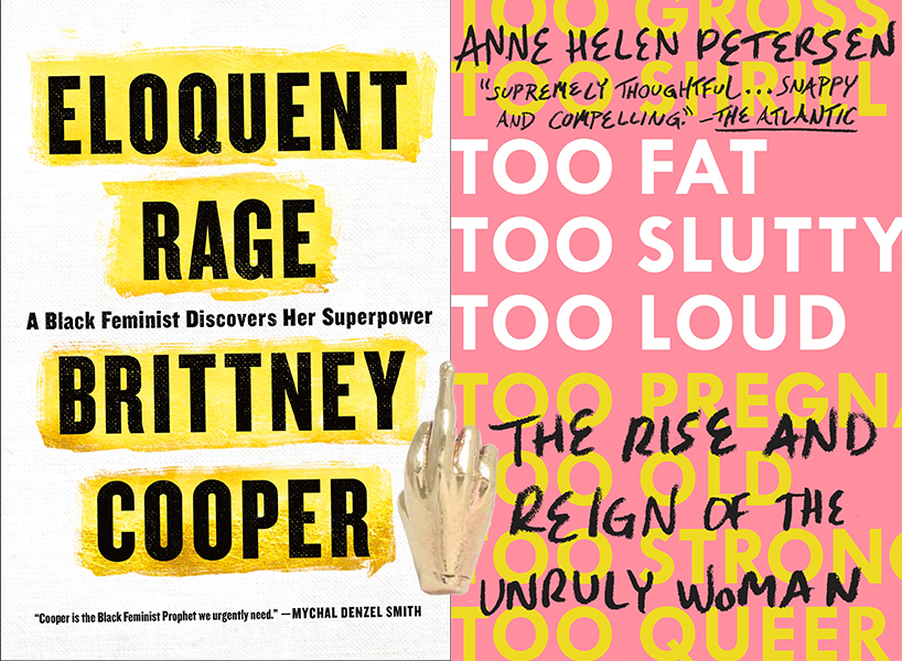 feminist gifts: brittney cooper's eloquent rage cover, erica weiner's f u pin, anne helen petersen's too fat, too slutty, too loud cover