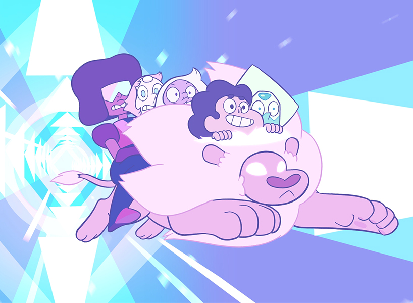 An animated still from Steven Universe