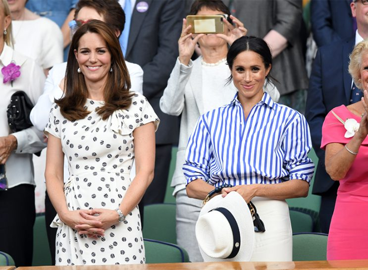 Kate Middleton and Meghan Markle in the audience at Wimbledon