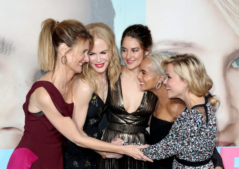 "Actors Laura Dern, Nicole Kidman, Shailene Woodley, Zoe Kravitz, and Reese Witherspoon attend the premiere of HBO's ""Big Little Lies"" at TCL Chinese Theatre on February 7, 2017 in Hollywood, California. (Photo by Frederick M. Brown/Getty Images)"