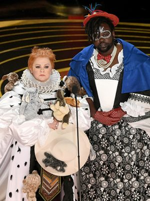 Melissa McCarthy and Brian Tyree Henry doin the most at the 2019 Oscars (Photo: Getty Images)