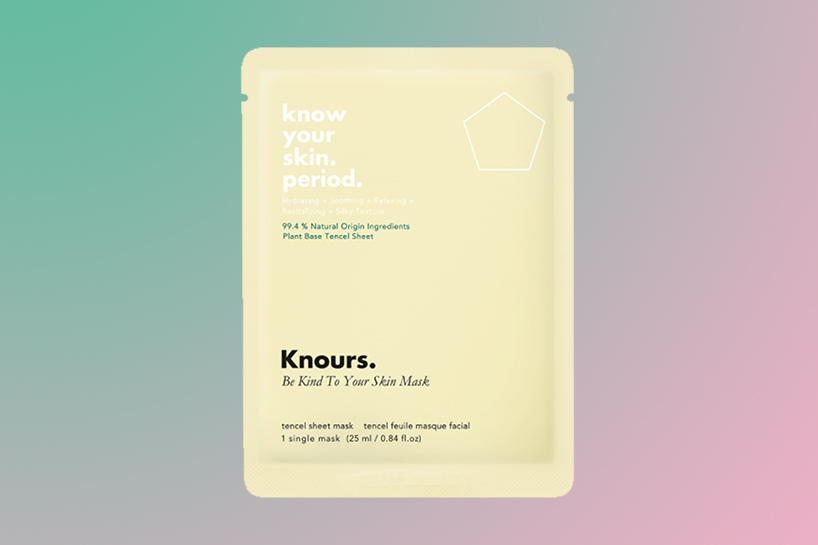 Knours sheet mask product for hormonal acne treatment