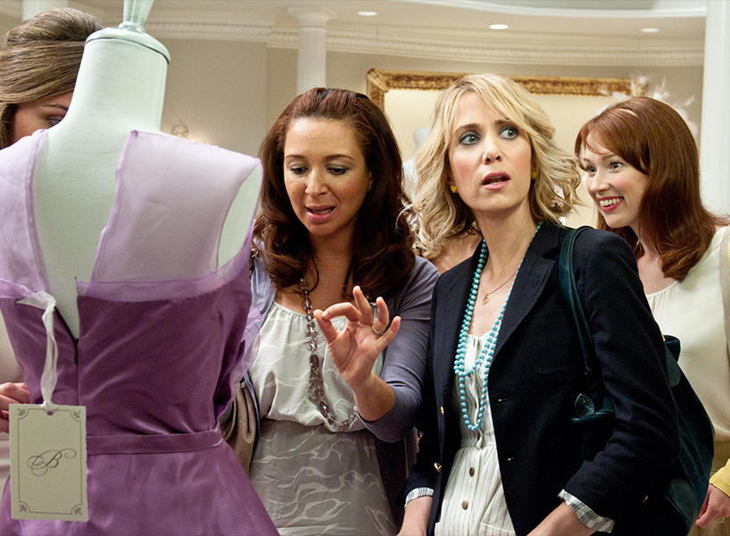 The dress shopping scene from the movie Bridesmaids with Kristin Wiig