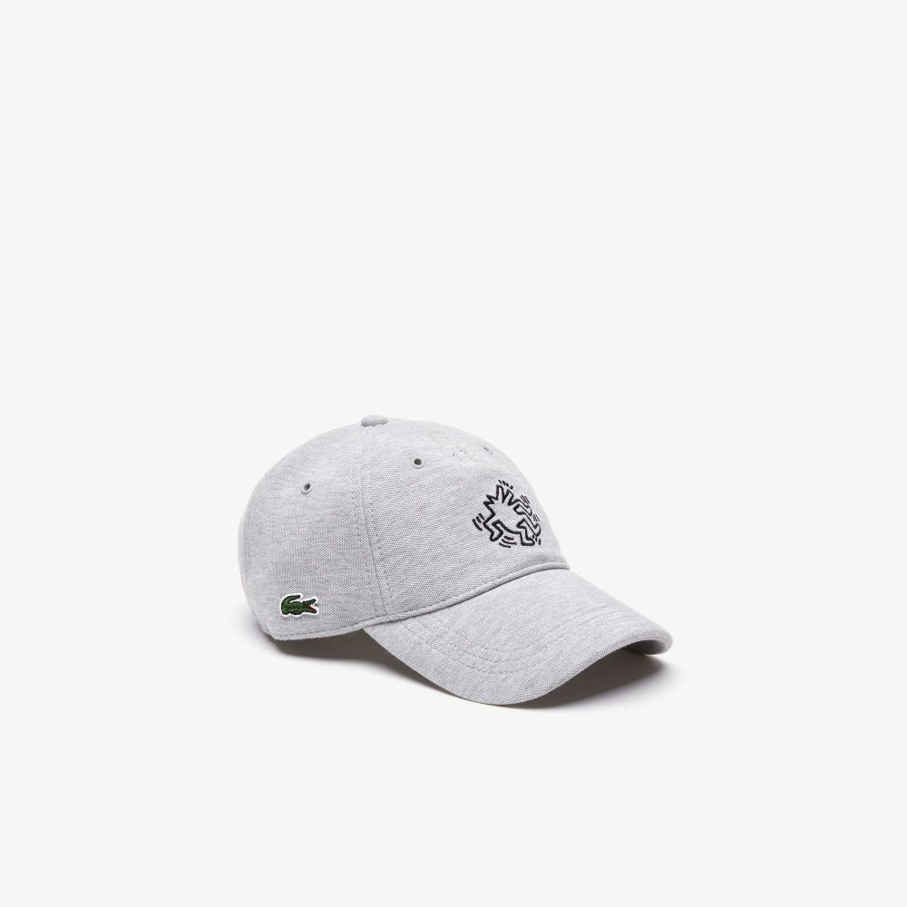 Lacoste Keith Haring Embroidered Cotton Cap