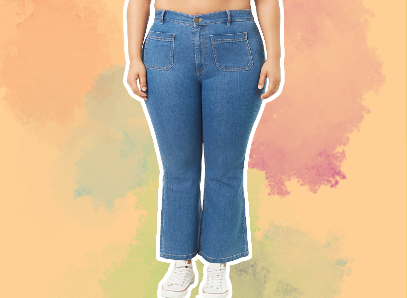 Cropped bell bottom jeans from Forever 21