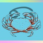 Cancer illustration: a crab