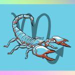 Scorpio illustration: a scorpion, lol.