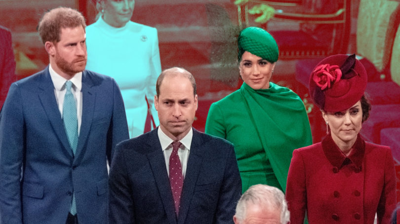 Harry and meghan commonwealth day: Harry, Meghan, William and Kate walk into the Commonwealth Day celebrations