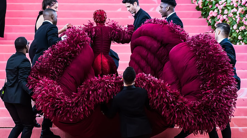 met gala 2020: Cardi B is assisted up the stairs at the 2019 Met Gala