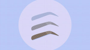 An illustration depicting microblading fading