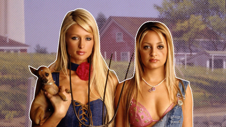 paris hilton the simple life 2020: Paris Hilton and Nicole Richie pose in a still from The Simple Life