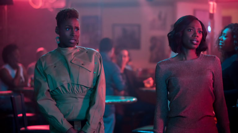 Insecure Lighting Black Actors: Issa Rae in a still from