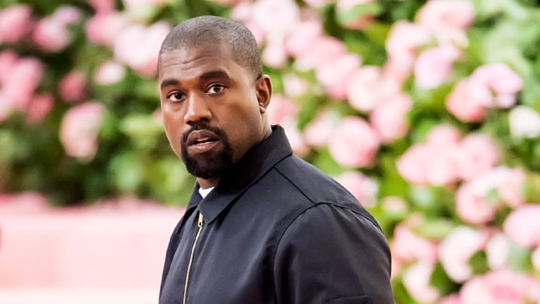 kanye west running for president 2020: Kanye West poses on the Met Gala red carpet
