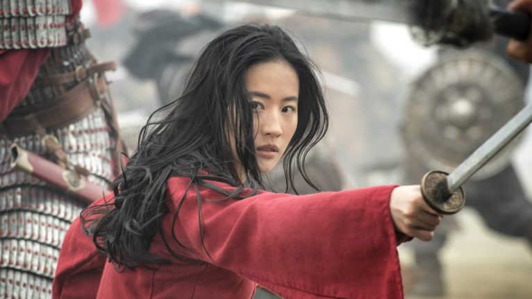 live action mulan controversy: actress Liu Yifei in a still from Mulan