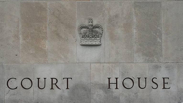 A close-up of an Ontario court house, where the Alex Minassian autism defence is being heard