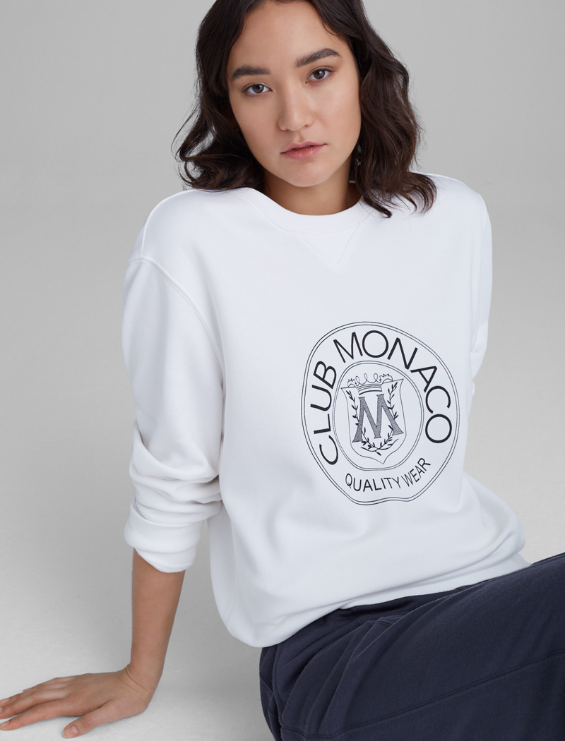 editors favourite products: Club Monaco sweatshirt